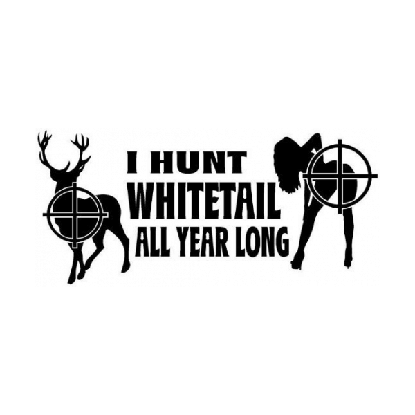 I Hunt Whitetail All Year Long Decal