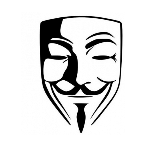 Anonymous Guy Fawkes Mask V For Vendetta Decal