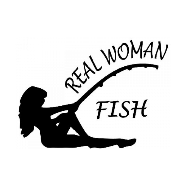 Real Women Fish Decal