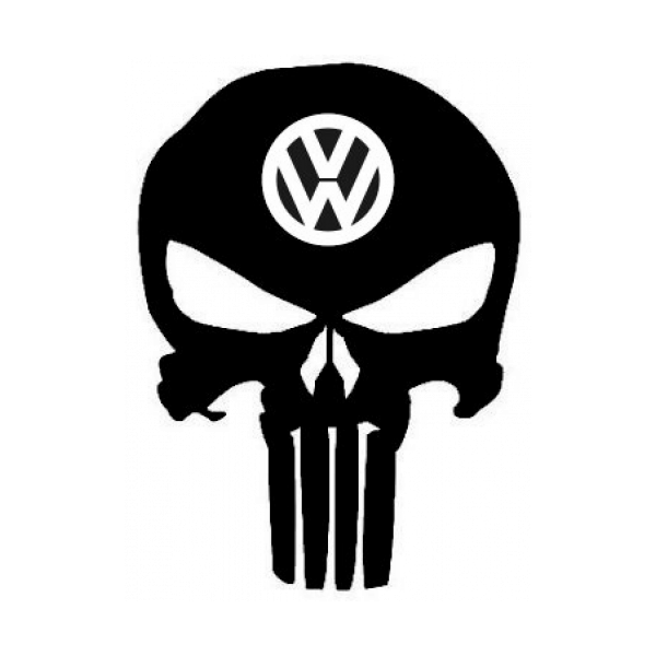 Punisher Skull Vw Decal