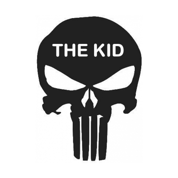 Punisher Skull The Kid Decal