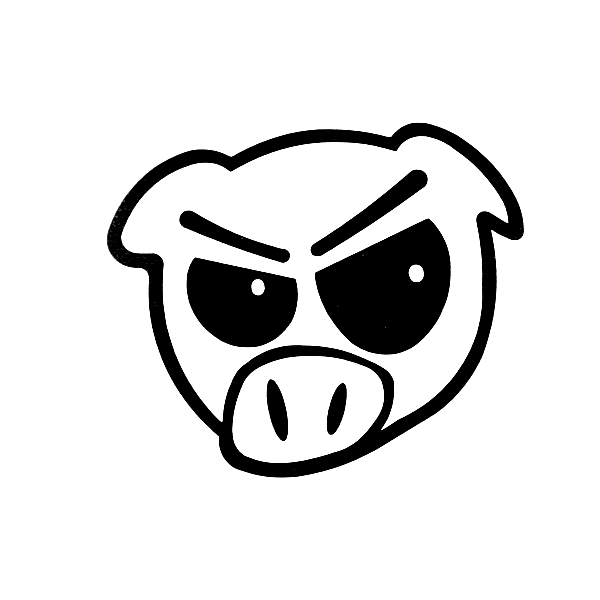 Angry Pig Decal